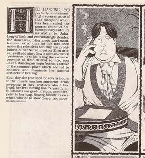 Sim text example from Cerebus: Jaka's Story
