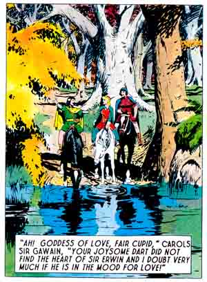 Foster text example from Prince Valiant
